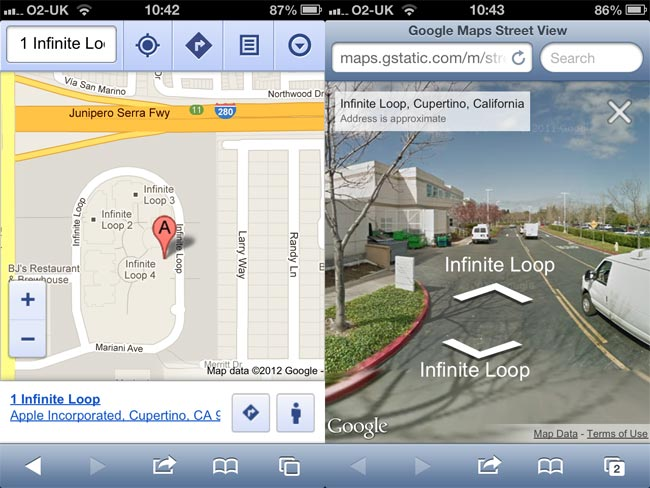 Street View Lands On Google Maps Web App On iOS on