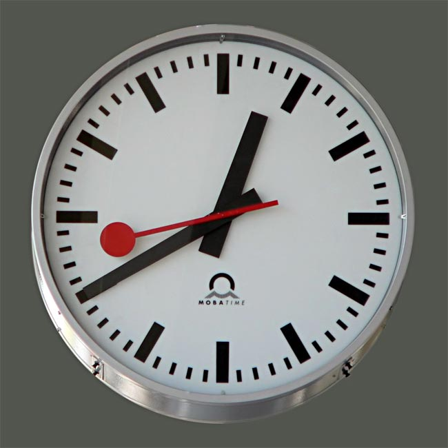 Swiss Railway Clock Design