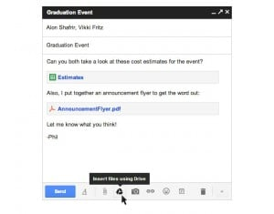 Gmail And Google Drive Team-up To Provide 10GB File Transfers
