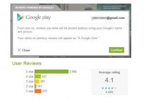 Google Play Store Reviews Now Linked To Your Google+ Account