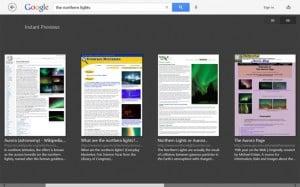 Google Search Windows RT