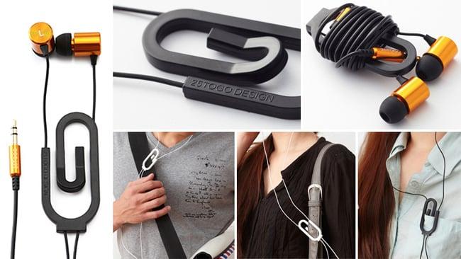 Paperclip headphones