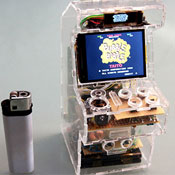 Tiny Video Game Cabinet Created Using Raspberry Pi (video)