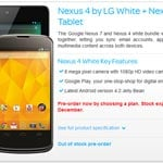 White Google Nexus 4 Goes Up For Pre-order In The UK