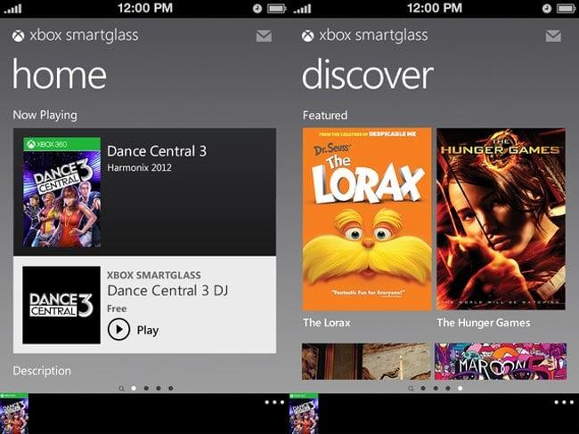 Xbox Smart Glass App
