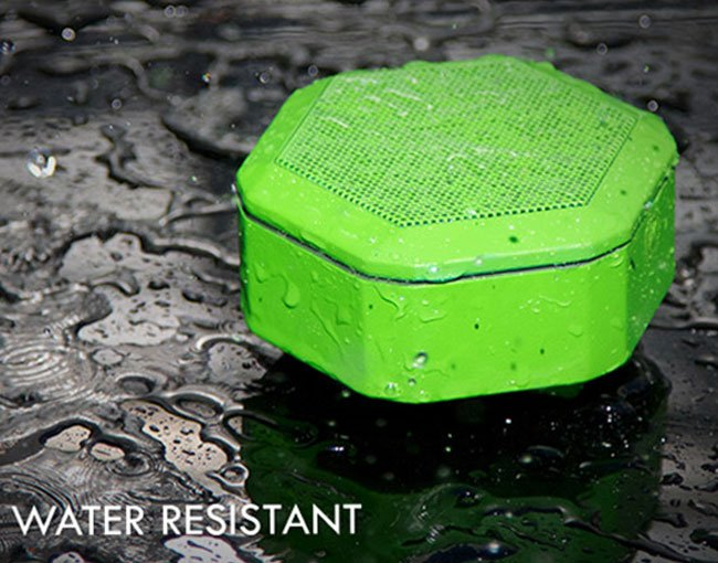 Water resistant portable speaker