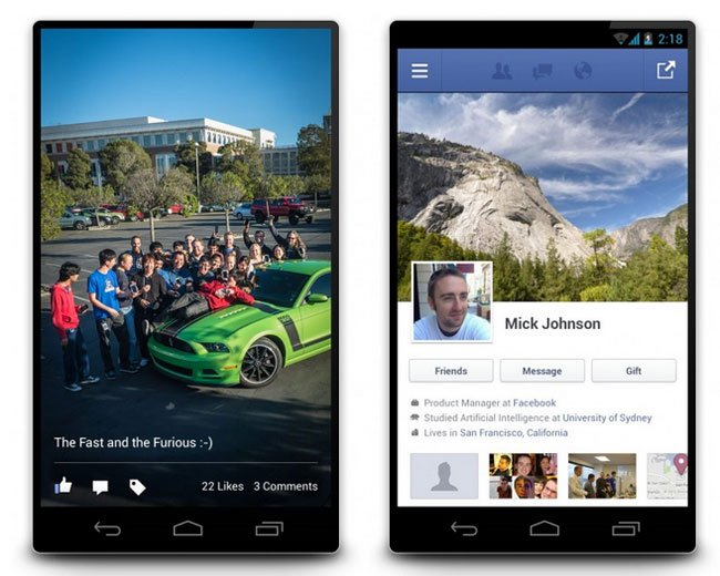 Facebook 2 for Android