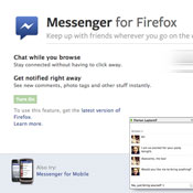 Facebook Messenger For Firefox Now Available (video)