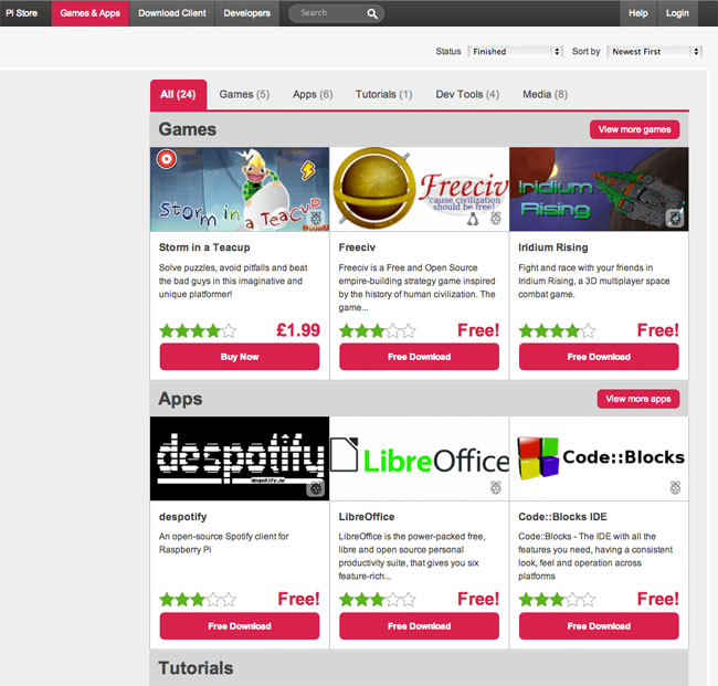 Raspberry Pi App Store