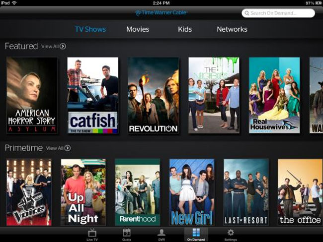 Time Warner Cable TV iOS App