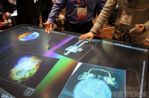 3M Multitouch 84 Inch Tabletop Display Demonstrated At CES 2013 (video)
