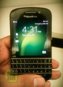 BlackBerry X10 To Launch 30th of January