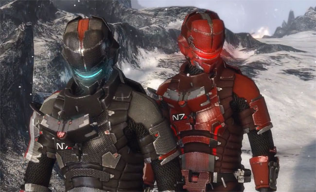 Dead Space 3 Mass Effect armour