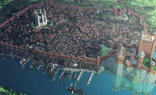 King's Landing Re-Created In Minecraft