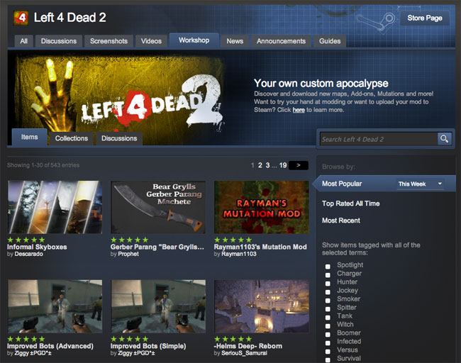 Left 4 Dead 2 Workshop