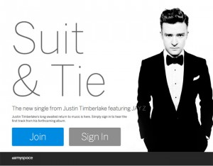 New My Space Opens With New Justin Timberlake Single