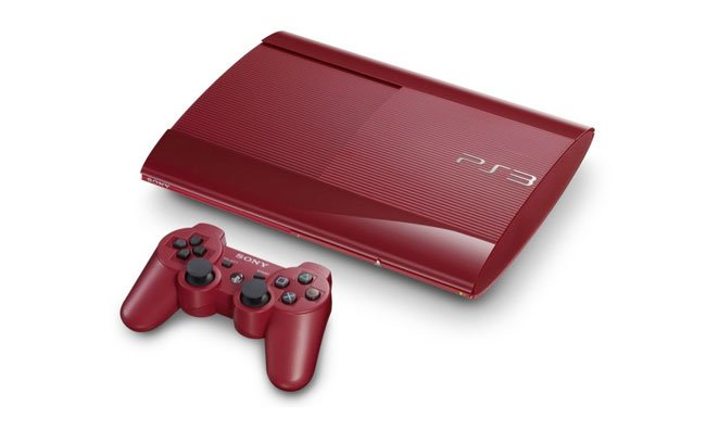 Red Super-Slim PS3