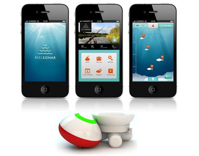 reelsonar fishfinder app and smart bobber helps you outsmart the, Fish Finder
