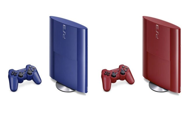 Super Slim Ps3 Launching In Blue Amp Red