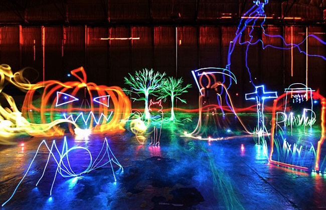 Worlds Largest Light Painting