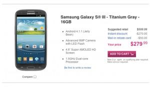 Titanium Gray Samung Galaxy S III Lands On T-Mobile