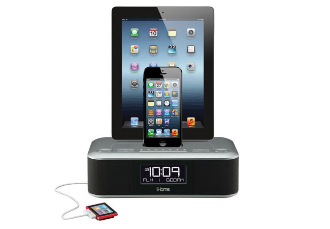 iDL100 Triple Charging Stereo FM Clock Radio