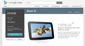 16GB Nexus 10 Back In Stock At UK Google Play