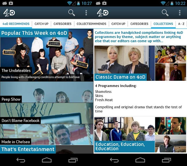 4oD Android App