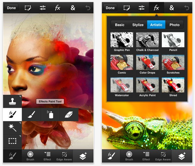 Загрузить приложение photoshop touch для iphone