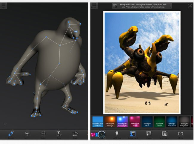 sculpteo123d creature ipad app lets you make your own toys with a 3d