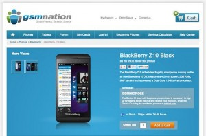 BlackBerry Z10 Available In The U.S. For $999 Contract-Free