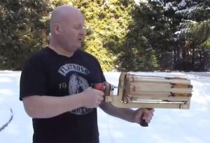 Full Auto Slingshot Minigun Unveiled By Slingshot Master Joerg Sprave (video)