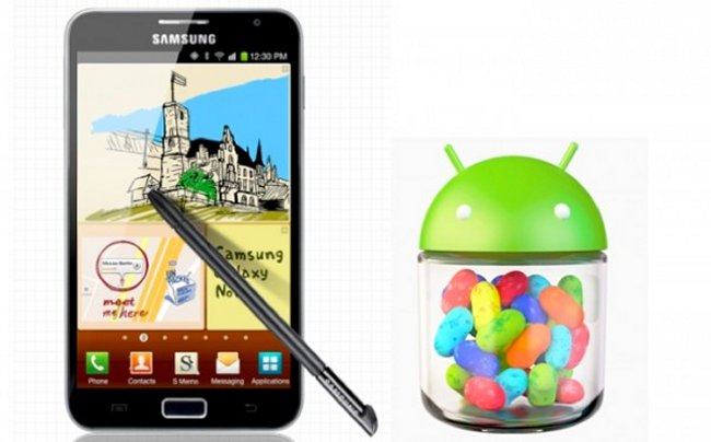samsung galaxy note jelly bean update