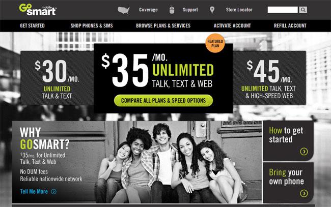 GoSmart Mobile Prepaid Service