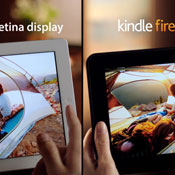 Kindle Fire vs iPad Screens Compared By Amazon (video)