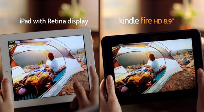 iPad vs Kndle Fire HD