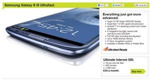 Three UK Launches Samsung Galaxy S3 Ultrafast
