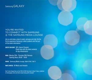 Samsung Sends Out MWC 2013 Invites