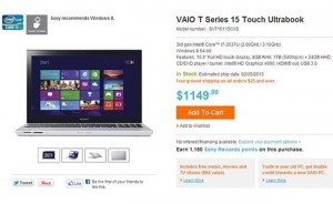 Sony VAIO T14 And T15 Touchscreen Ultrabooks Launched