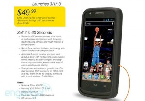 Sprint Force LTE Android Smartphone Leaked