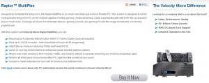 Velocity Micro Unveils Raptor MultiPlex Living Room PC