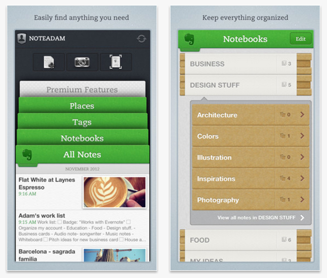 Evernote iOS App
