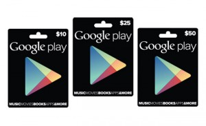 Google Play Gift Cards Now Redeemable In Canada