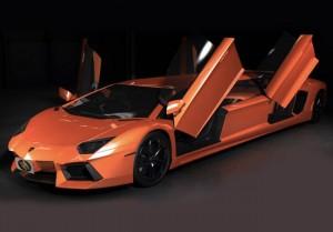 Lamborghini Aventador Stretch Limo Unveiled (video)