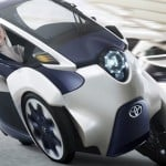 Toyota i-Road EV Concept Vehicle Leans Like A Motorcycle