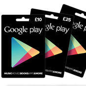 UK Google Play Gift Cards Launching For £10, £25 and £50