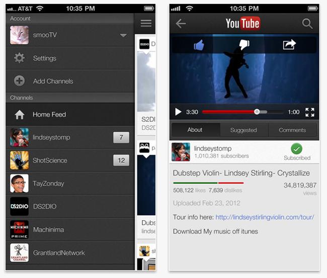 YouTube iOS App Update