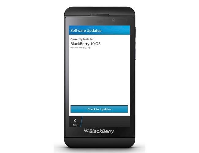BlackBerry Z10 Update