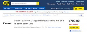 Canon EOS-b DSLR Hits Best Buy Ahead of Official Unveil