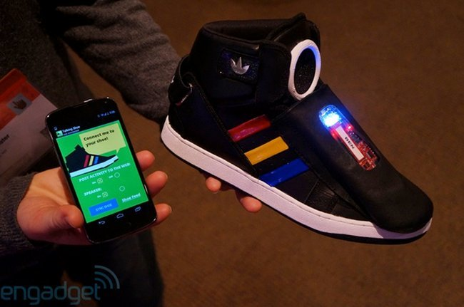 Google Shows Off Talking Sneakers